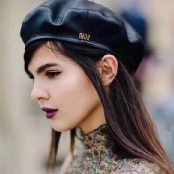 63549f95 Dior Accessories | Leather Beret | Poshmark